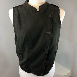 Juicy Couture Moss Green Vest Top Size Small